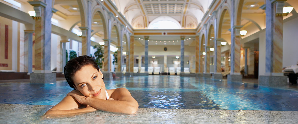 Thermal Spa Grand Resort Bad Ragaz, Switzerland, inside swimming pool