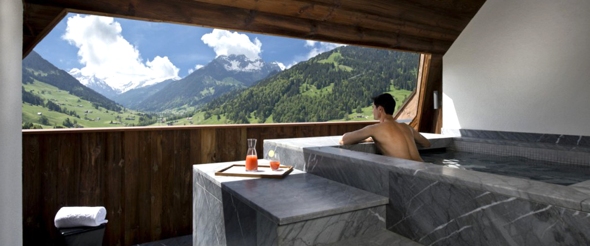 The alpina gstaad luxury hotel and six senses spa finest spa - Hotel de montagne suisse ...