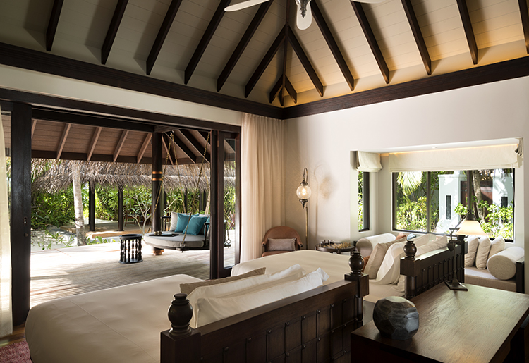 Anantara Kihavah Villas Maldives - Tree Bedroom Beach Pool Residence - Twin bedroom