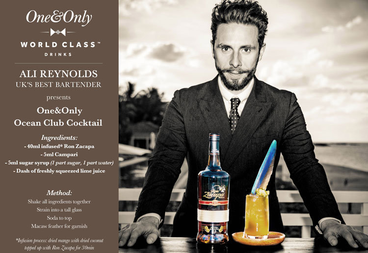 One & Only Ocean Club Receipe Card