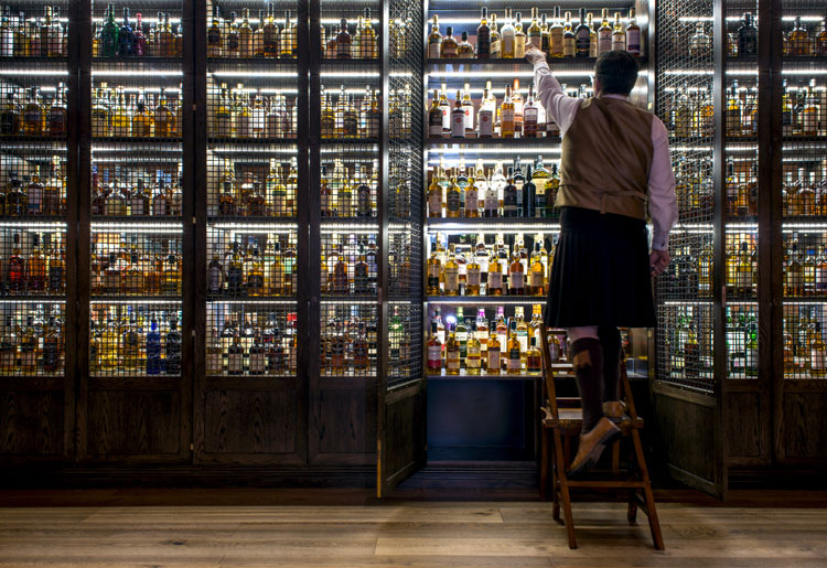 Rocco Forte Hotel The Balmoral Whisky Cabinet & Ambassador at Scotch