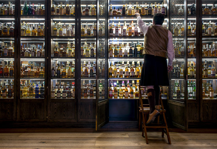 The Balmoral Whisky Cabinet Ambassador at Scotch