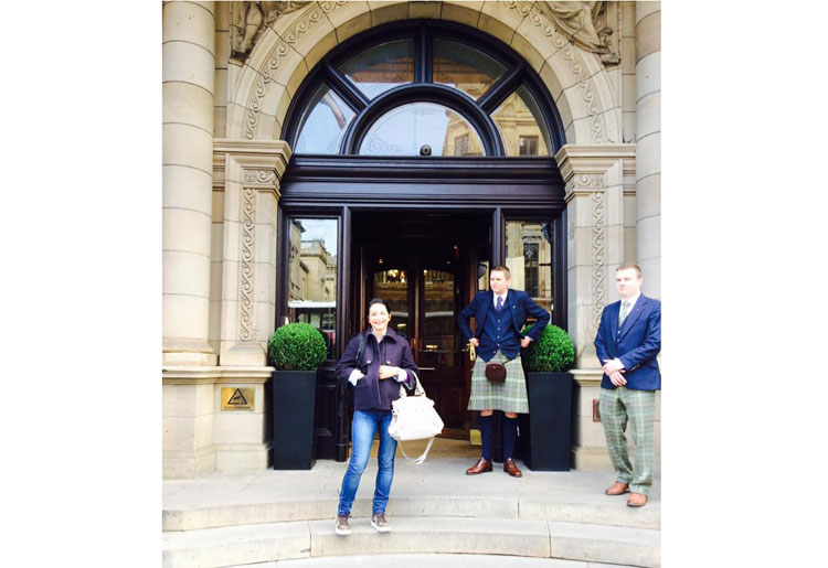 Arrival at the balmoral